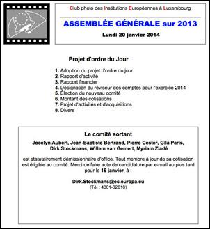 Agenda General Assembly CIEL 2013