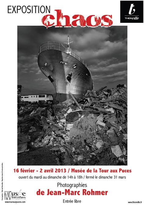 Affiche expo Chaos de Jean-Marc Rohmer