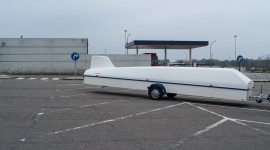 Picture of a glider on a Belgian parking place